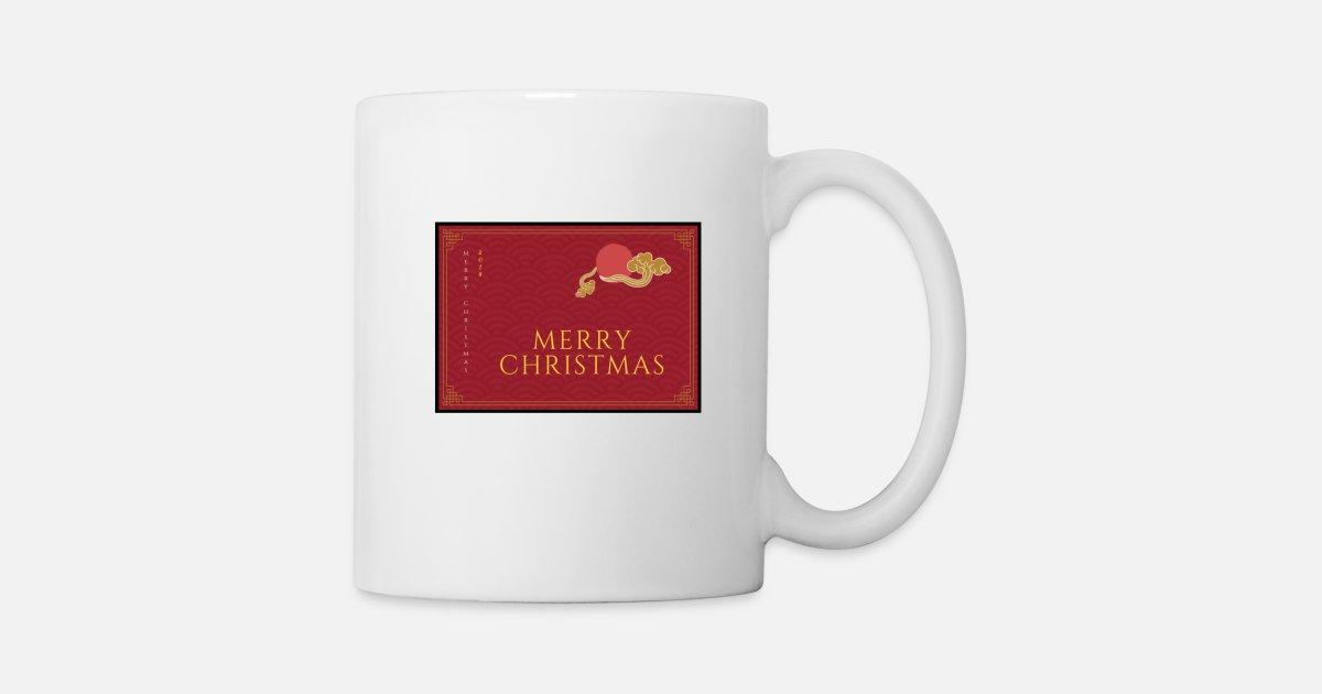 Frohe Weihnachten Englisch.Frohe Weihnachten Englisch Rot Tasse Spreadshirt