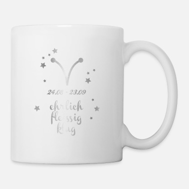 Asterisk Zodiac Virgo Silver Horoscope Birth Symbo - Mug