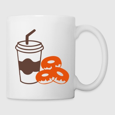 Coffee cup take out & donuts - Mug