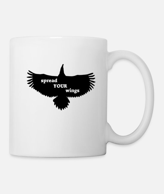 Wing Mugs & Drinkware - spread your wings - Mug white