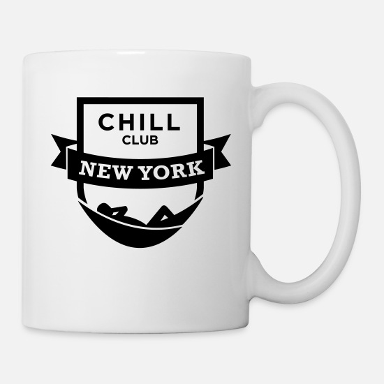 Pigro Tazze & Accessori - Chill Club di New York - Tazza bianco
