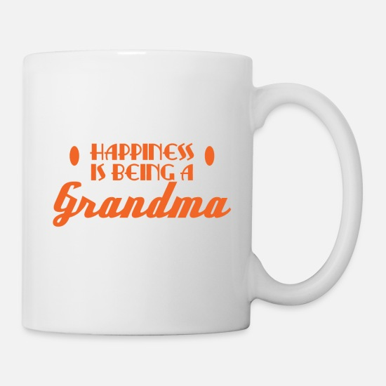 "Happy Mugs & Drinkware - A Granny Tee For Grandmas ""Happiness Is Being A - Mug white"