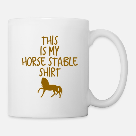 Horse Racing Mugs & Drinkware - stable - Mug white