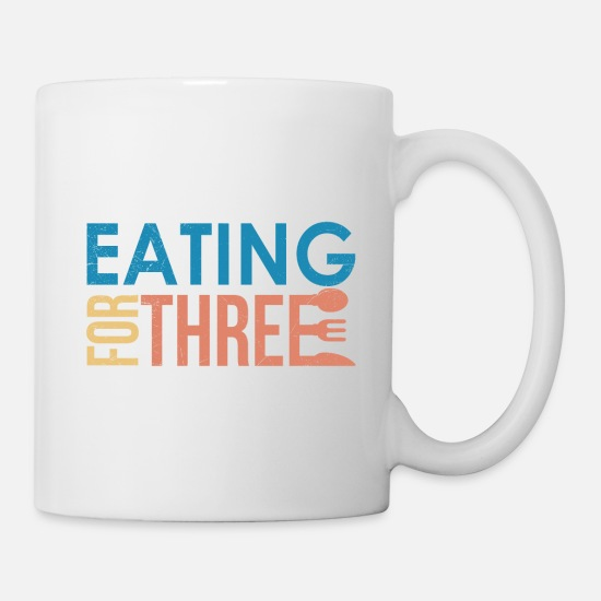 Gift Idea Mugs & Drinkware - Eating For Three Twins Mom Funny Gift - Mug white
