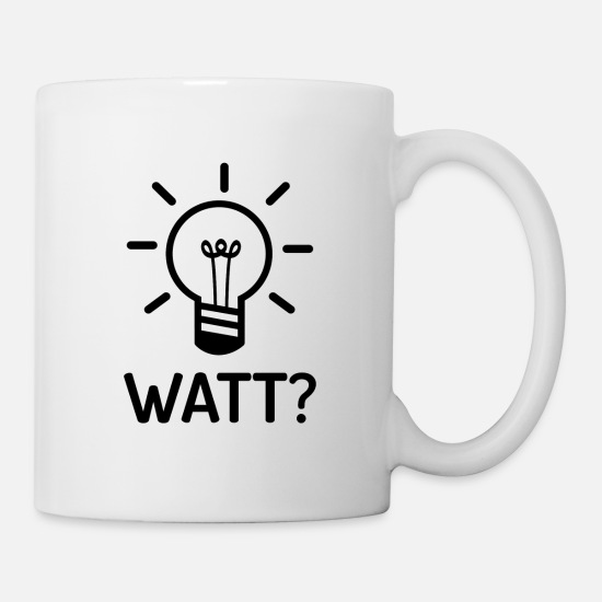 Gift Idea Mugs & Drinkware - Watts What Electrician Electronics Technician Gift - Mug white