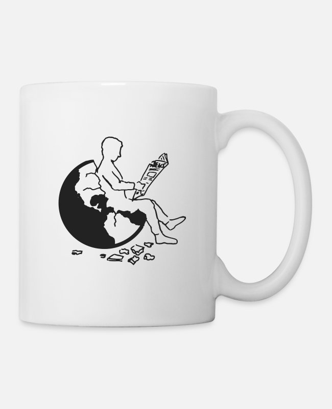 Earth Mugs & Drinkware - Earth | black - Mug white