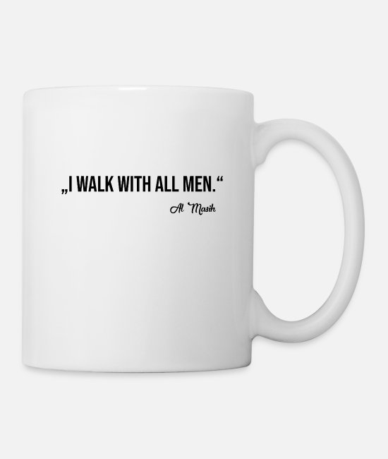 Belief Mugs & Drinkware - WALK WITH ALL MEN - Mug white