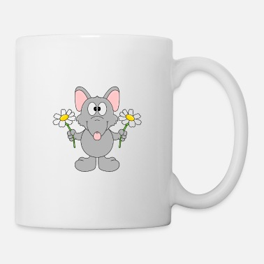 Style Funny Rat - Flowers - Gift - Animal - Fun - Mug