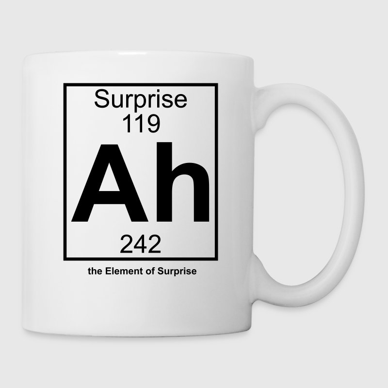 Ah - the Element of Surprise - Tasse