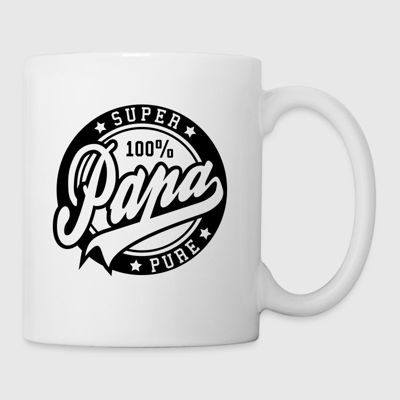 100 percent PURE SUPER PAPA - Mug blanc