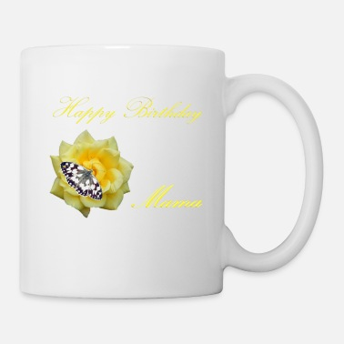 Mums Favorite Birthday gift for the mum with flowers design - Mug