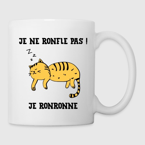 je ne ronfle pas je ronronne ronfler chat fun by funky art spreadshirt. Black Bedroom Furniture Sets. Home Design Ideas
