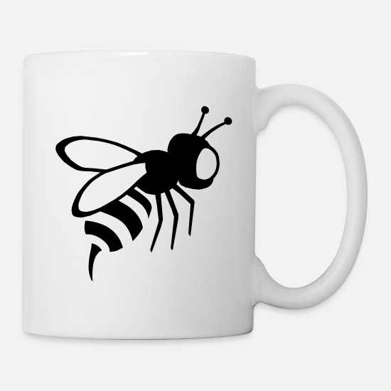Wasp Mugs & Drinkware - bee, wasp, insect - Mug white