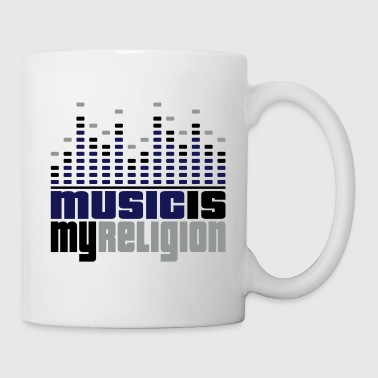 Music Equalizer Religion - Mug blanc