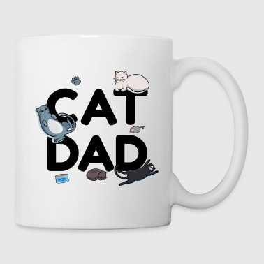 Dad Cat Dad - Cat Cat Man Daddy Kitty Meow - Kop/krus