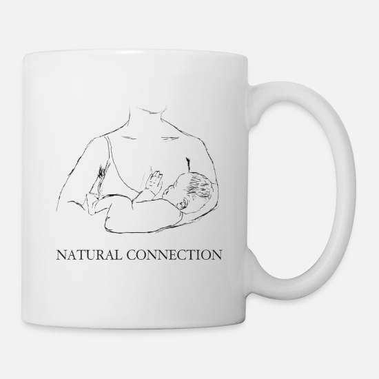 Silent Mugs & Drinkware - Breastfeeding - the most natural connection - Mug white