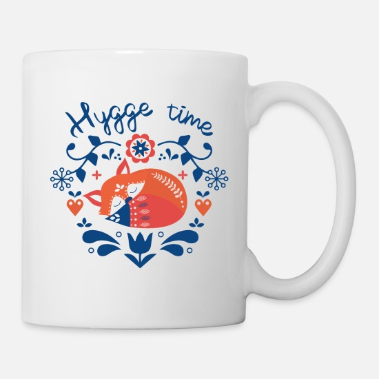 Lazy Mugs & Drinkware - Hygge time fox - Mug white