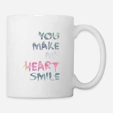 Valentines Day You make my heart smile - Mug