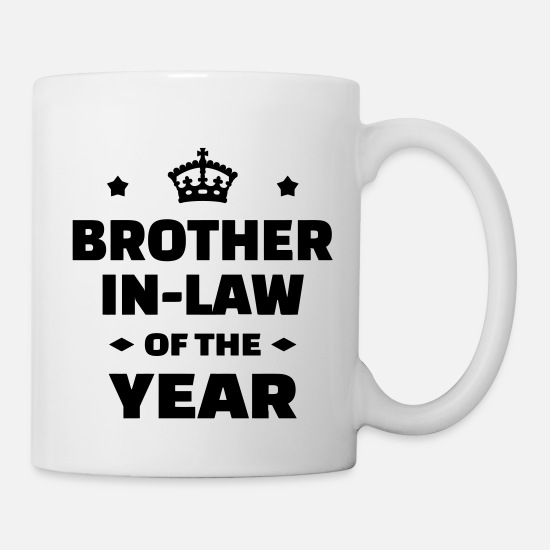 Brother In Law Mugs & Drinkware - Brother in law Beau Frère Schwager Marriage - Mug white