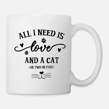 All i need is love and a cat (gift idea) - Mug