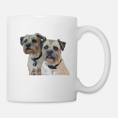 Two Border Terriers - Mug