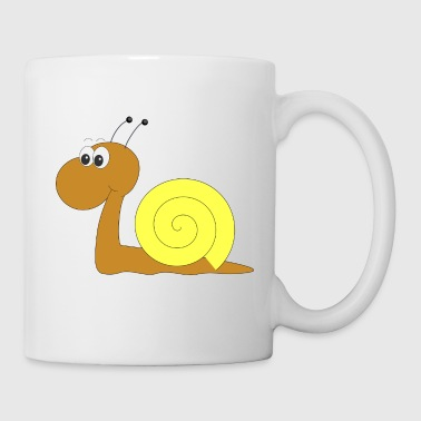 Snail yellow and brown - Tasse