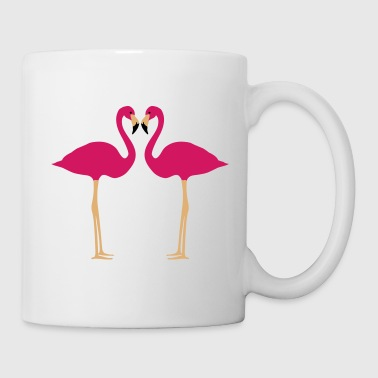 flamingo, flamingoer - Kop/krus