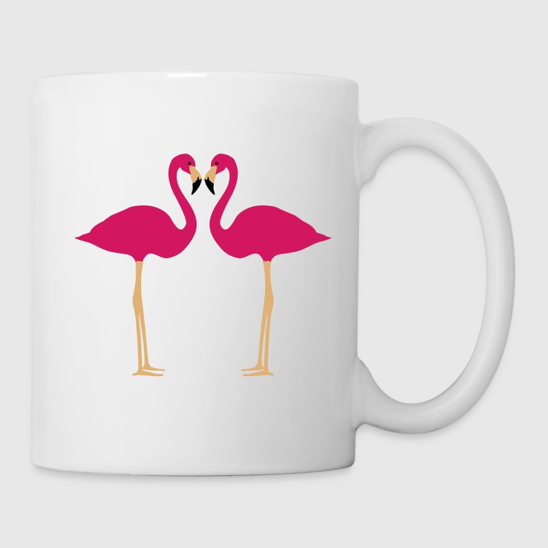 Flaming, Flamingos and Heart - Kubek
