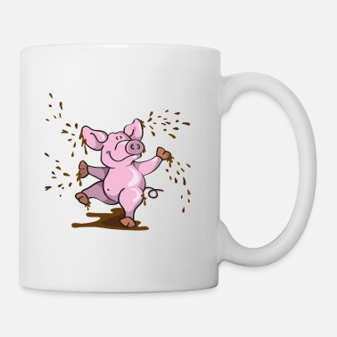 Thickness Happy pig in the mud - Mug