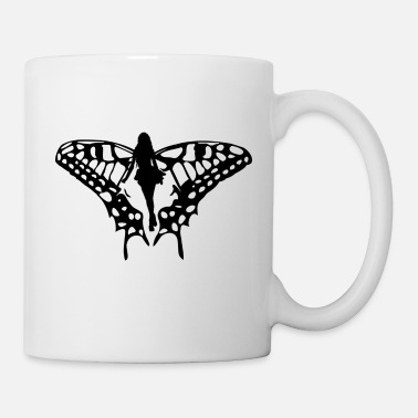 Black elf with big wings - Mug