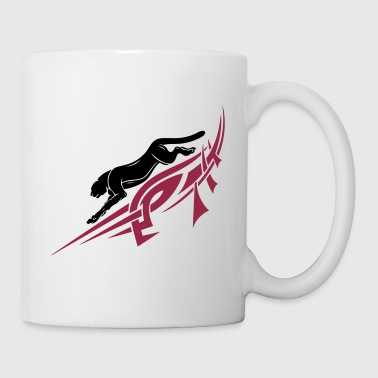 Panther, Tribal, Tattoo - Mug