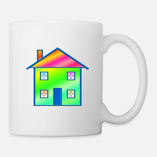 Roof Mugs & Drinkware - House - Mug white