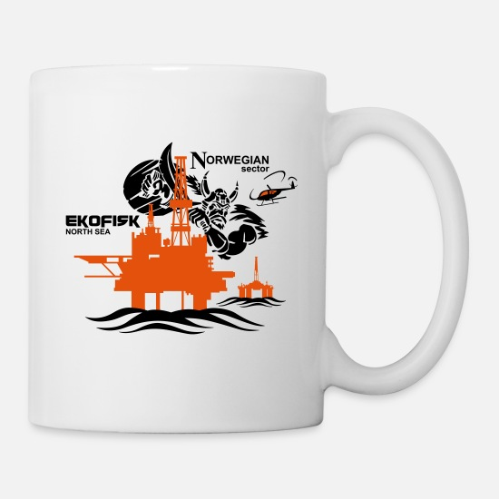 Platform Mugs & Drinkware - Ekofisk Oil Rig Platform North Sea Norway - Mug white