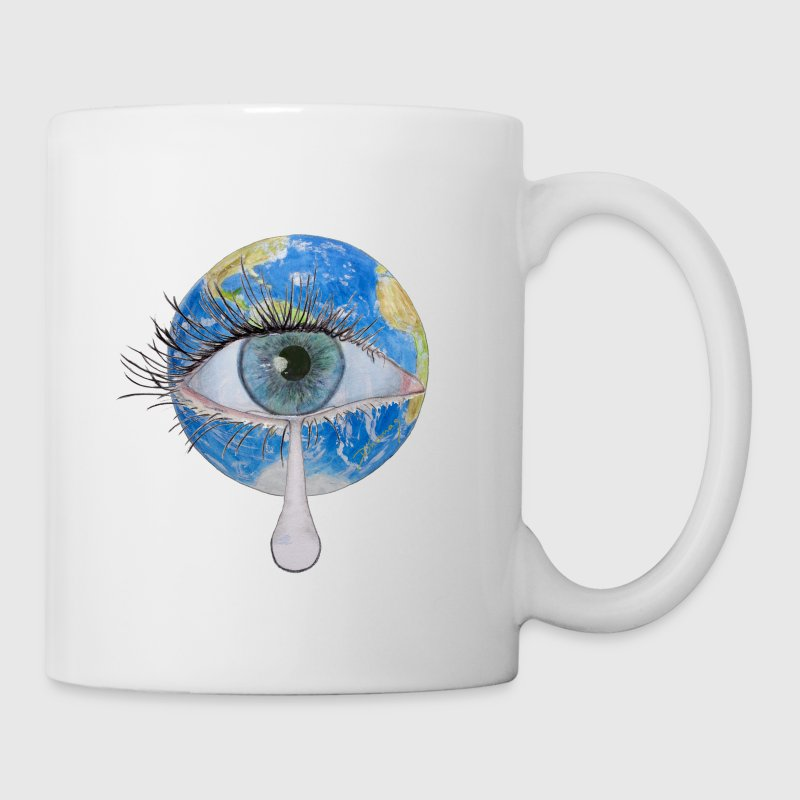 Planet earth crying - Mug