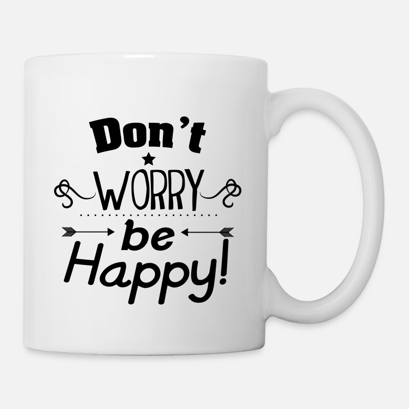 Actitud Tazas y accesorios - Don't worry be happy - Taza blanco