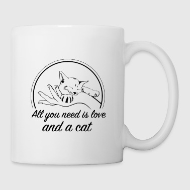 All you need is love and a cat - Tasse