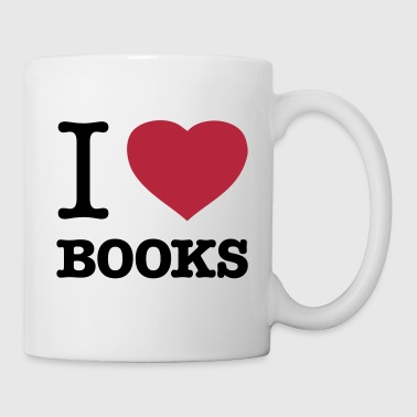 I LOVE BOOKS - Tasse