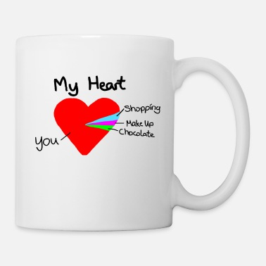 Valentines Day heart pie chart valentines day love - Mug