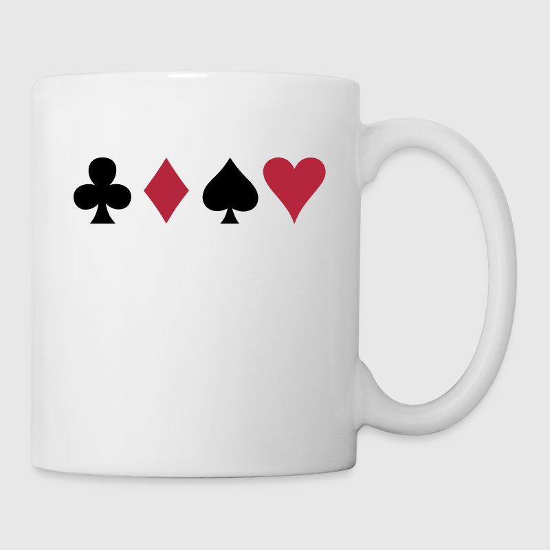 ALL FOUR poker cards card suits in a row - Tazza