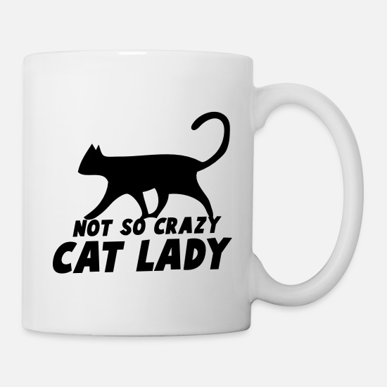 Cat Mugs & Drinkware - NOT so crazy cat lady - Mug white