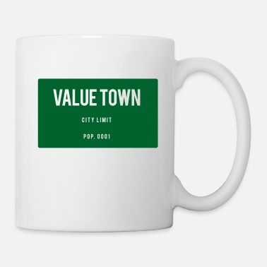 Town Value Town town sign - Mug