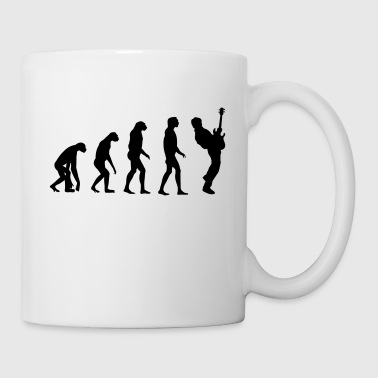 bass player evolution - Mug blanc