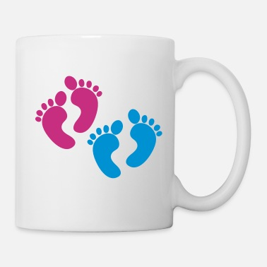 Twins twins foot two sets of feet - Mug