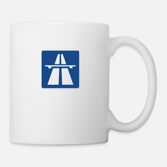 Automobile Mugs & Drinkware - Highway sign - Mug white