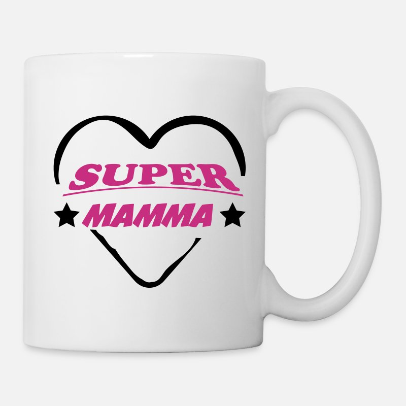 Mummy Mugs & Drinkware - Super mamma 111 - Mug white