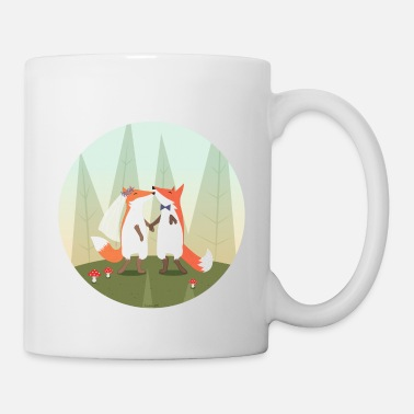 Mariage fox marriage - Mug blanc