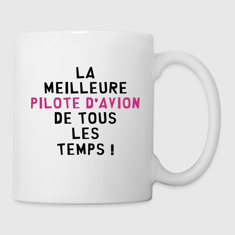 Pilote d'Avion / Aviateur / Aviation / Voler - Mug blanc