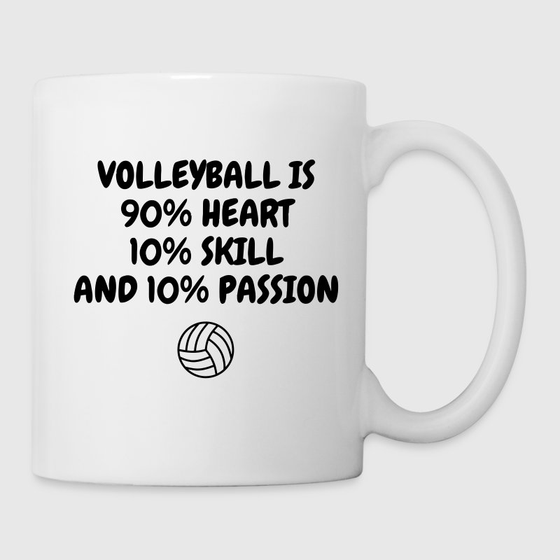Volleyball - Volley Ball - Volley-Ball - Sport - Mug blanc