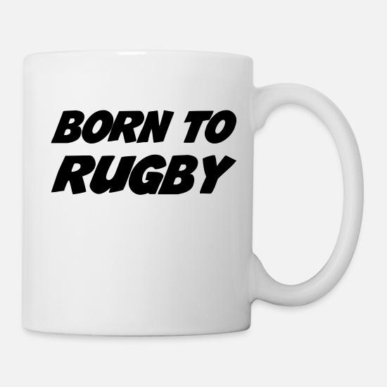 Rugby Rugbyman Sport Fighter Fight Mug Blanc Blanc