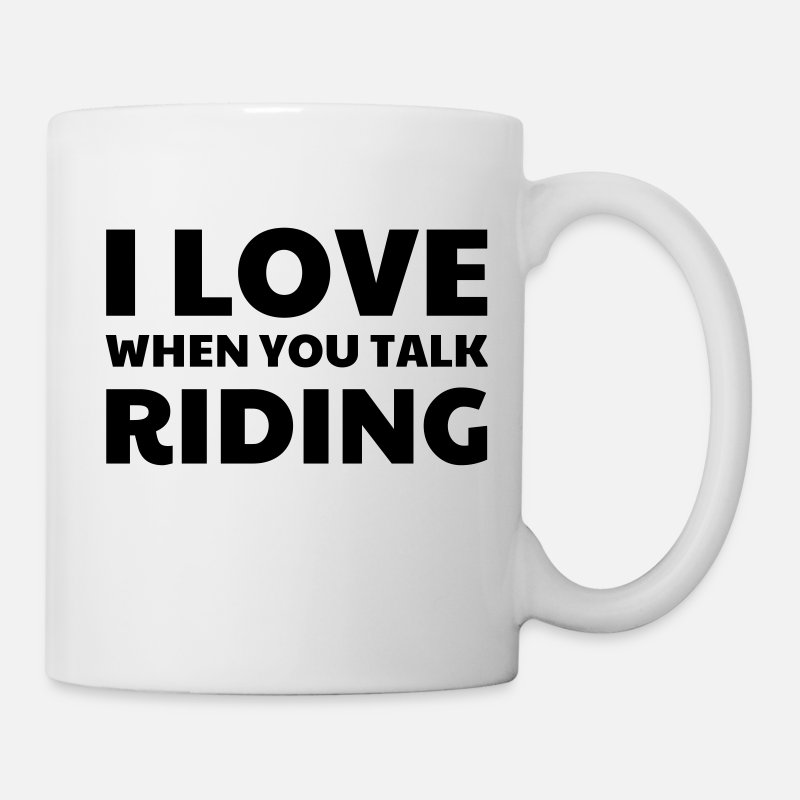 Sporty Mugs & Drinkware - Riding Horse Rider Equestrianism Equitation - Mug white